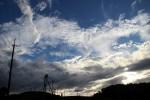 Himmel über den Teefeldern